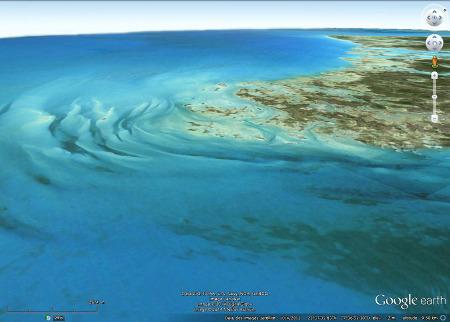 La pointe Sud-Ouest de l'île Andros aux Bahamas