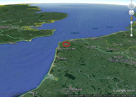 Localisation du Boulonnais et de ses carrières dans le Pas de Calais