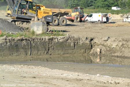 Tranchée faite sur le chantier de Villard-Bonnot