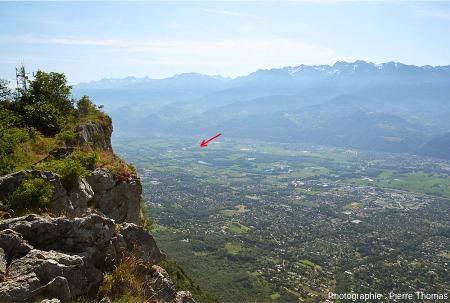 La vallée du Grésivaudan vue du sommet du Mont Saint Eynard, juste au-dessus de Grenoble