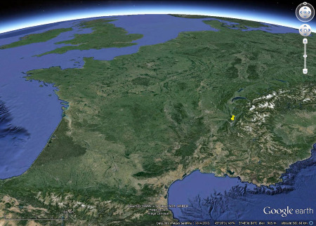 Localisation du massif de la Chartreuse, massif subalpin des Alpes externes