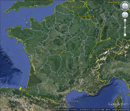Localisation de Zumaia, au pays basque espagnol