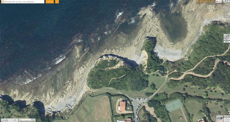Vue aérienne du secteur de Saint Jean-de-Luz où ont été prises les photographies ci-dessus