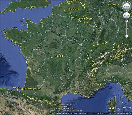 Localisation du secteur Saint Jean-de-Luz / Ciboure (Pyrénées Atlantiques) et de Zumaia (Pays basque espagnol)