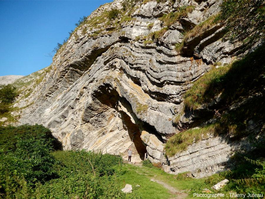 En quittant la grotte d'Harpéa vers la frontière espagnole