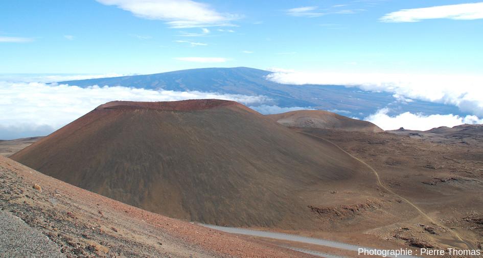 """Le Puu Hau Kea, cône de scories """"standard"""" situé dans la zone sommitale du Mauna Kea (4207m d'altitude), Grande Hawaï, États-Unis d'Amérique"""