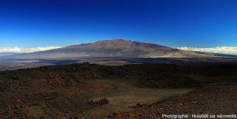 Le Mauna Kea vu du Mauna Loa (Hawaï)