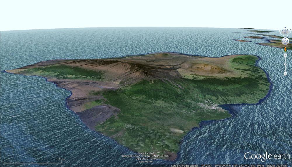 La grande île d'Hawaï