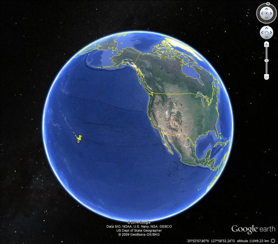 Localisation de la grande île d'Hawaï sur la plaque Pacifique