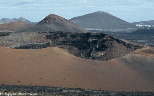 Zoom sur la moitié Ouest de la caldeira de Corazoncillo, Lanzarote (Canaries)