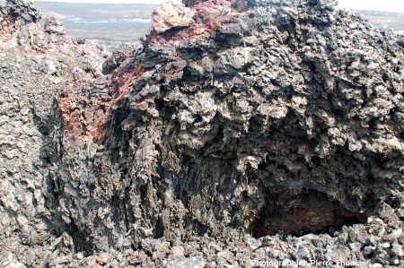 Vue plus détaillée du spatter cone précédent , Kilauea (Hawaï)