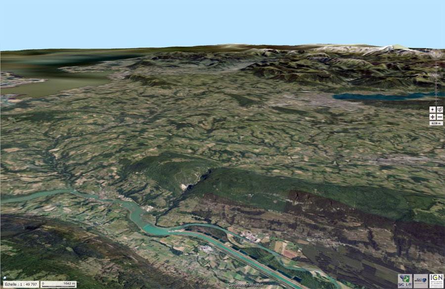 Vue oblique de la partie Nord du Gros Foug