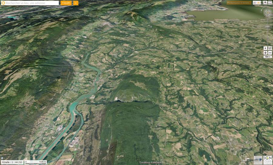 Vue oblique, en direction du Nord, de la partie Nord du Gros Foug
