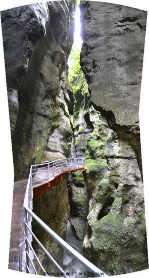 Quelque part dans les Gorges du Fier, à 7 km à l'Ouest d'Annecy (Haute Savoie)