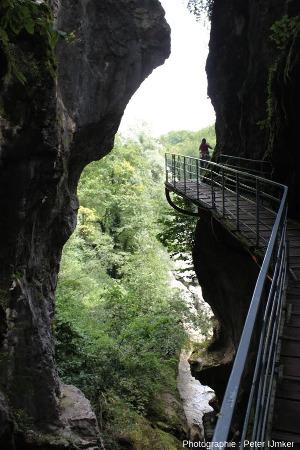 L'entrée (amont) des Gorges du Fier (Haute Savoie), vue vers l'amont