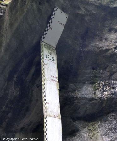 Records de crues sur l'échelle de crue des Gorges du Fier