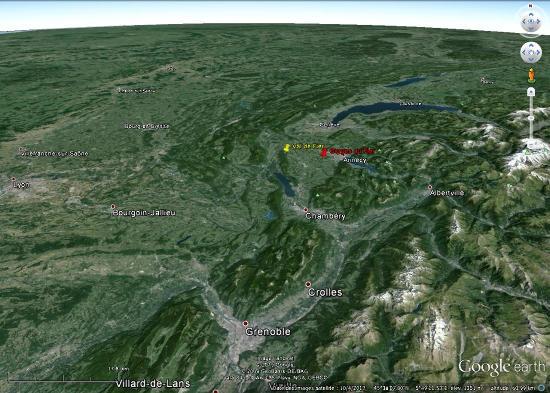 Position des Gorges du Fier (et du Val de Fier) dans les Alpes du Nord