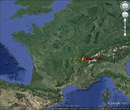 Position des Gorges du Fier (et du Val de Fier) en France