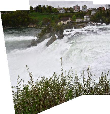 Les Chutes du Rhin, depuis la rive gauche du fleuve
