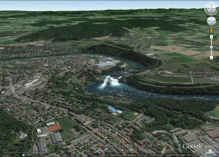 Vue sur les Chutes du Rhin