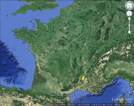 Localisation de la cascade du Sautadet, Gard