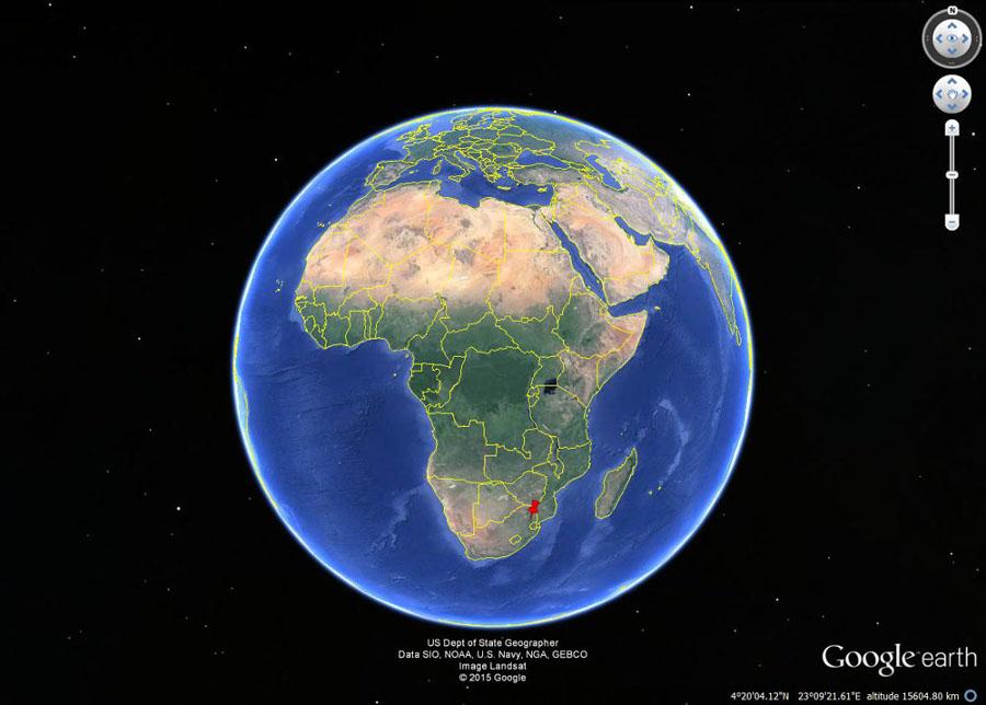 Localisation du canyon de la Blyde River en Afrique du Sud