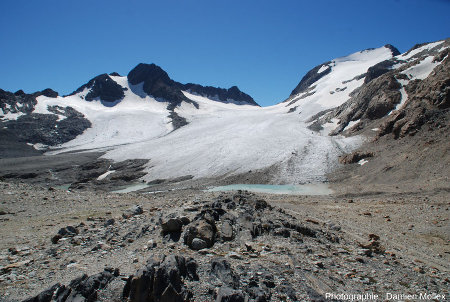 Vue générale du glacier de Saint Sorlin, 13 septembre 2014