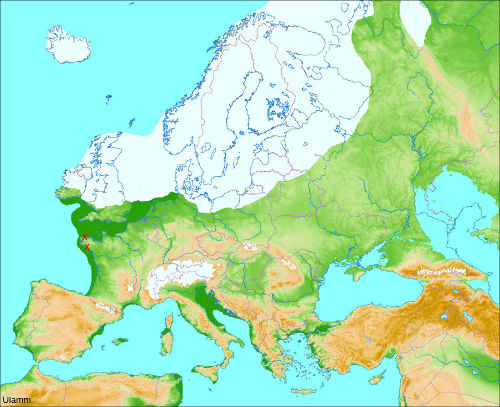 Carte de la calotte glaciaire Nord-européenne lors du dernier maximum würmien