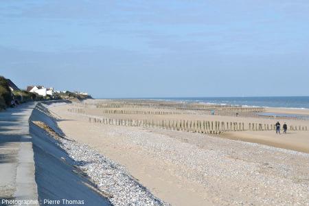 Vue générale de la plage de Sangatte (Pas de Calais)