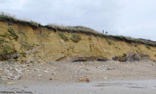 Zoom sur la partie Nord (gauche) de la plage de Trez-Rouz (Crozon, Finistère)
