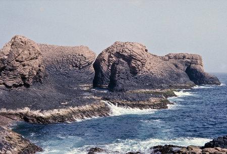 Vue d'ensemble de la pointe Sud de l'île de la Madeleine, depuis l'intérieur de l'île