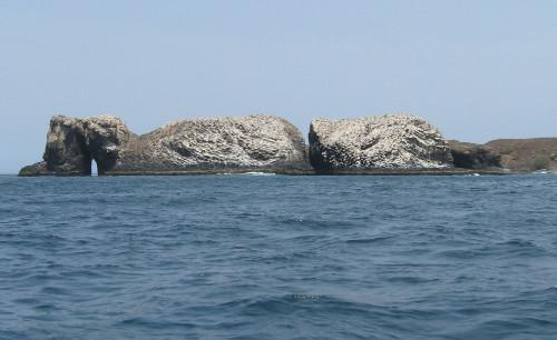 Vue d'ensemble de la pointe Sud de l'île de la Madeleine depuis l'île Lougne