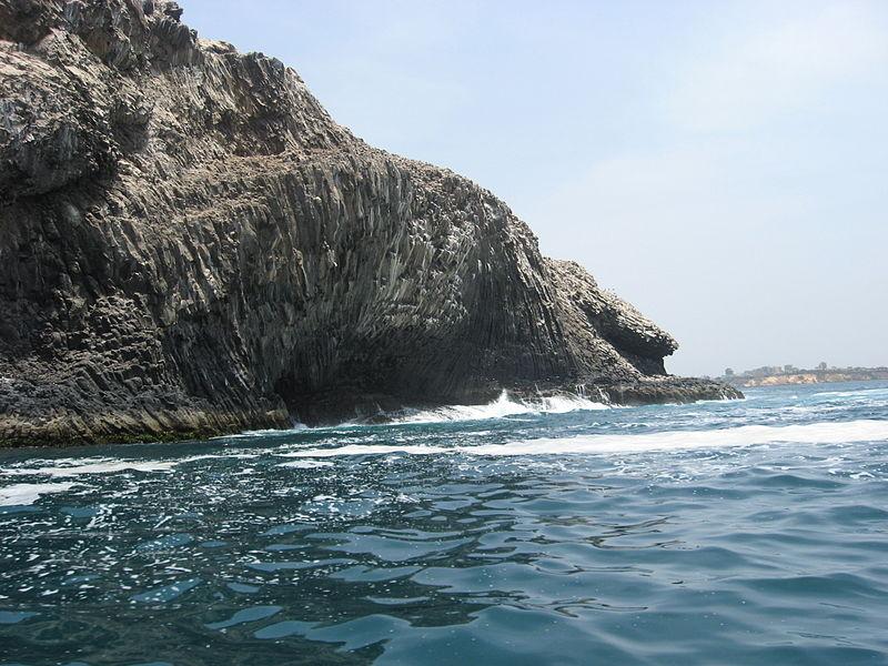 Terminaison redressée d'un faisceau de prismes «en arcs», côte Est de l'île de la Madeleine