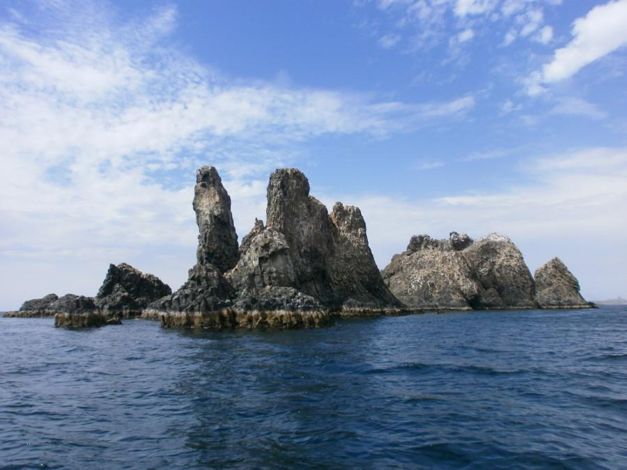 Extrémité Sud de l'île Lougne à prismation redressée