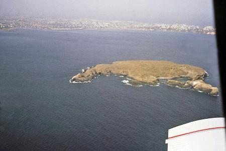Photographie aérienne de l'île de la Madeleine
