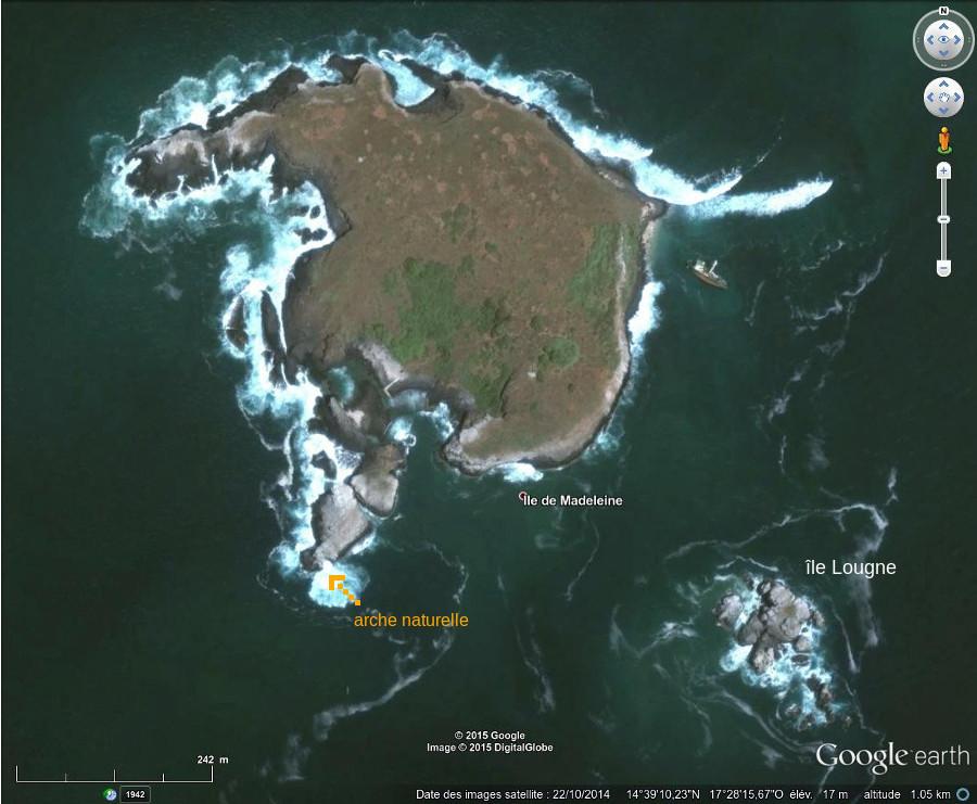 Les îles de la Madeleine, île principale et île Lougne, au Sud-Est
