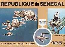 Les îles de la Madeleine et le parc national éponyme sur un timbre sénégalais