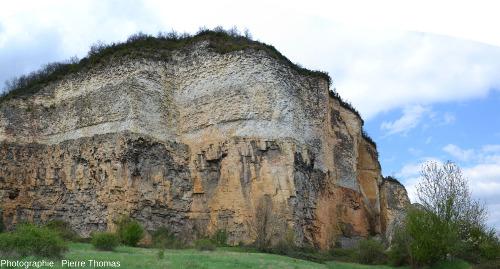 Vue globale sur la partie Sud-Ouest de l'ancien front de taille des carrières de Couzon au Mont d'Or
