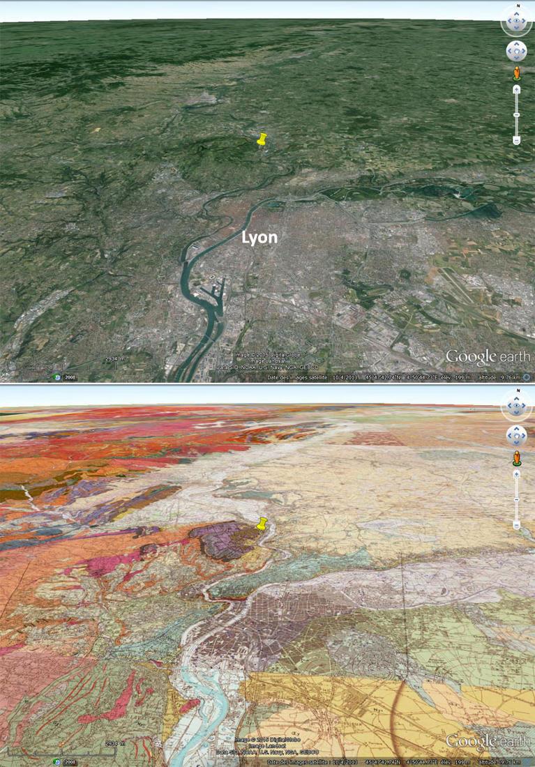 Cadres morphologique et géologique de l'agglomération lyonnaise