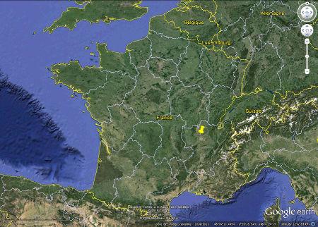 Localisation de Couzon au Mont d'Or (punaise jaune)