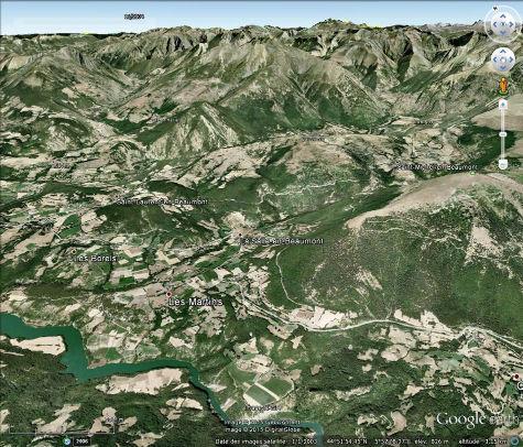 Vue aérienne du secteur de la Salle en Beaumont (Isère)