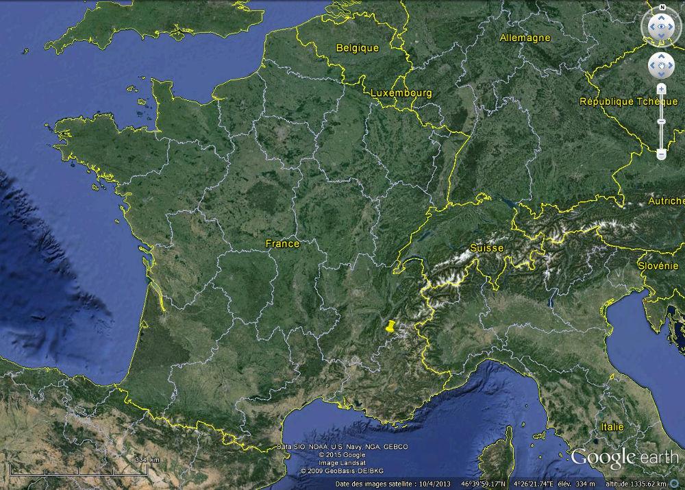 Localisation de la Salle en Beaumont (Isère)