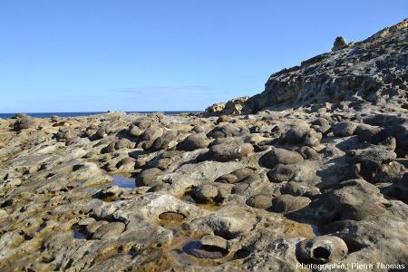 Secteur à paramoudras à moitié dégagés par l'érosion marine, Jaizkibel, Pays basque espagnol
