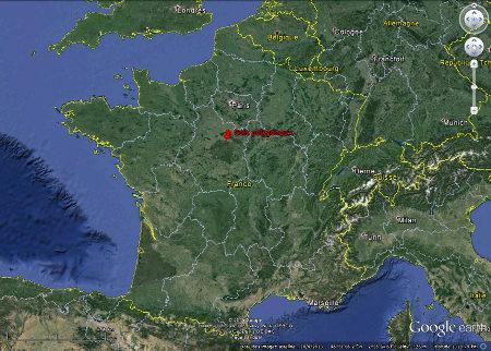 Localisation des sols polygonaux du Val de Loire