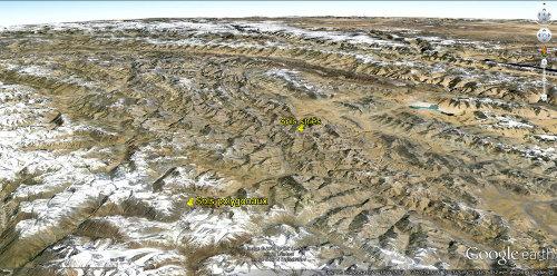 Localisation relative des sols polygonaux et des sols striés observés le long de la Leh-manali Highway (Ladakh indien)