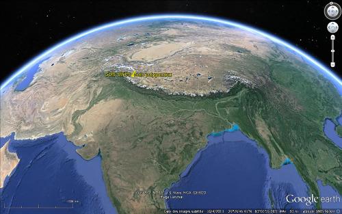 Localisation du Ladakh à l'Ouest de la chaîne himalayenne
