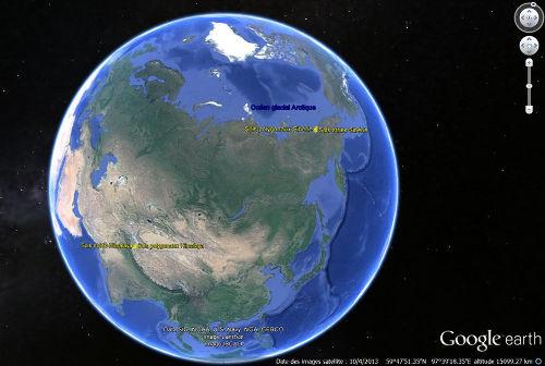 Localisation relative des secteurs à sols striés et à sols polygonaux en Sibérie et dans l'Himalaya