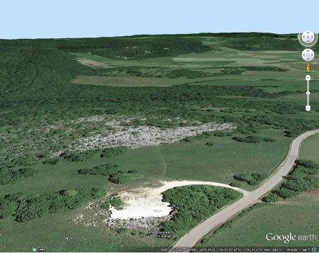 Vue aérienne sur le petit lapiaz de Loulle (Jura)
