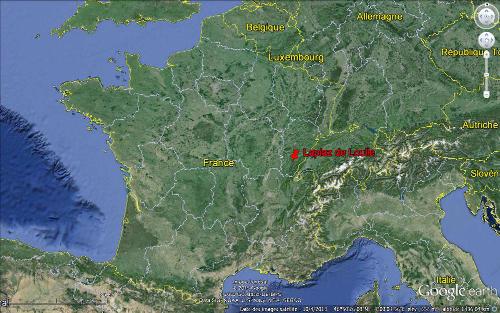 Localisation de Loulle (Jura) en France