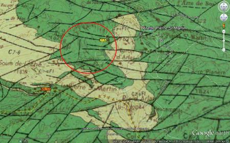 Carte géologique du col de la Pierre Saint Martin (Pyrénées Atlantiques)